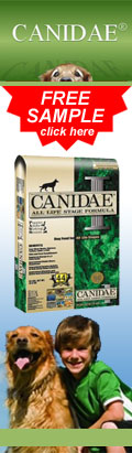 CANIDAE® All Natural Pet Foods - Click for your FREE SAMPLE