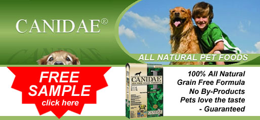 Click here for a FREE SAMPLE of CANIDAE® All Natural Pet Foods