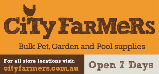 City Farmers Bulk Pet, Garden and Pool Supplies. For all store locations visit: cityfarmers.com.au Open 7 Days