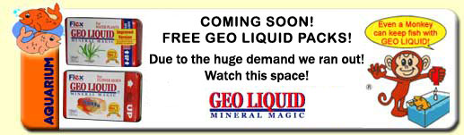 The Pet Directory Free Aquarium Product - Free Geo Liquid Packs! Proudly sponsored by: Geo Liquid Mineral Magic