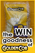 Win Golden Cob bird seed for your bird. Choose from parrot, cockatiel, budgerigar, finch, canary or pigeon mixes.
