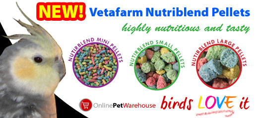 NEW! Vetafarm Nutriblend Pellets - Birds LOVE it!