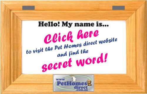 Click on the Pet Cage Tag to find the secret word!