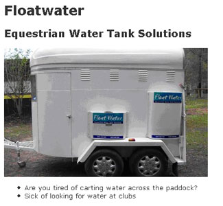 Floatwater - Equestrian Water Tank Solution