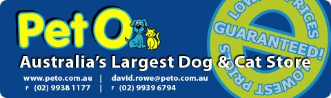 PetO - Australia's Largest Dog & Cat Store listing image or logo