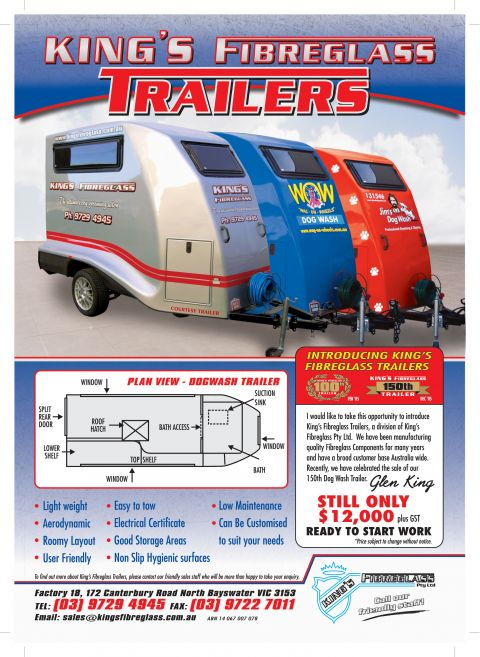 dc5e7394cd King s Fibreglass Grooming Trailers   Trailers   ACCESSORIES   Dogs ...