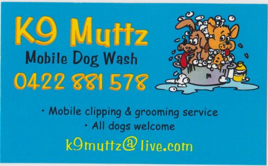 K9 MUTTS MOBILE DOG WASH logo